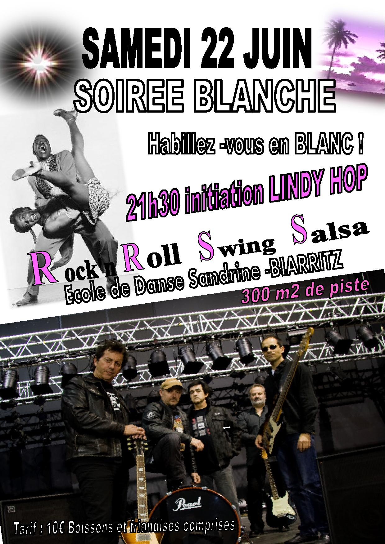 Soirée Blanche avec THE STAMPERS - ROCK / SWING avec  - initiation LINDY